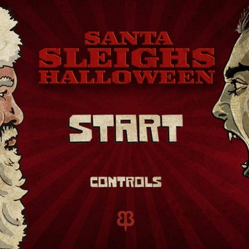 Santa Sleighs Halloween